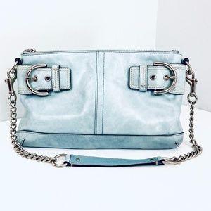 COACH SOHO PALE BLUE SHOULDER BAG
